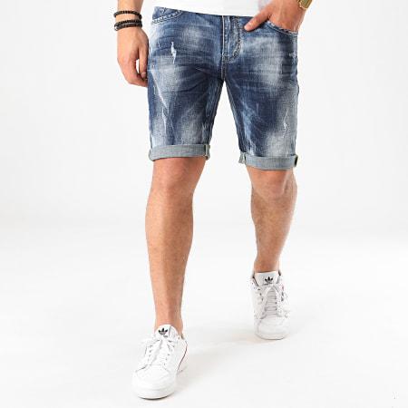 Terance Kole - Short Jean Skinny 18016 Bleu Denim