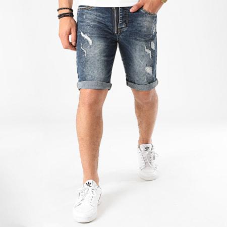 Terance Kole - Short Jean 11012 Bleu Denim