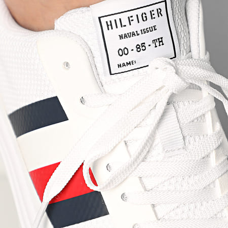 Tommy Hilfiger - Baskets Lightweight Stripes Knit 2689 White