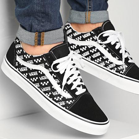 Vans - Baskets Old Skool U3BTEZ Logo Repeat Black True White ...