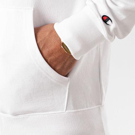 Champion - Sweat Zippé Capuche 214185 Blanc