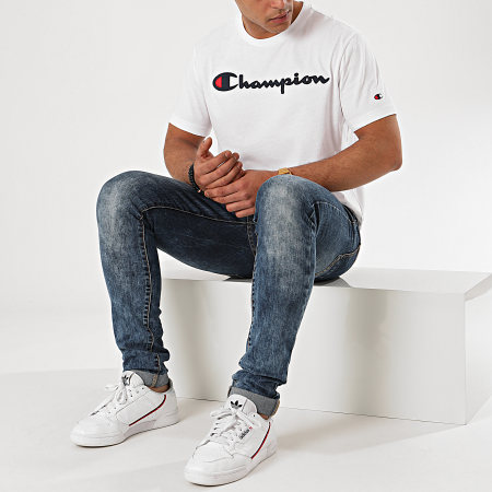 Champion - Tee Shirt 214194 Blanc