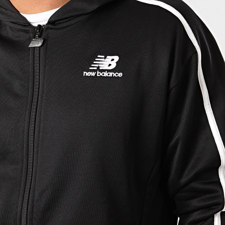 New Balance - Sweat Zippé Capuche A Bandes 777600 Noir