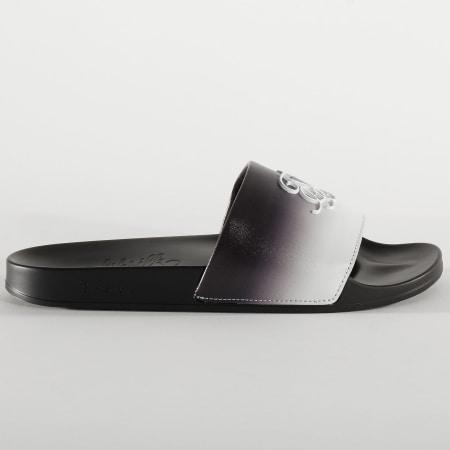 SikSilk - Claquettes Roma Fade SS-16123 Noir Blanc