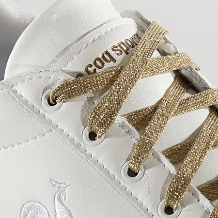 Le Coq Sportif - Baskets Femme Agate Metallic 2010473 Optical White Gold