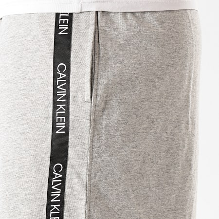 Calvin Klein - Short Jogging A Bandes Medium Jersey 0466 Gris Chiné