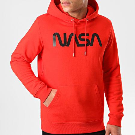 NASA - Sweat Capuche Worm Logo Rouge Noir