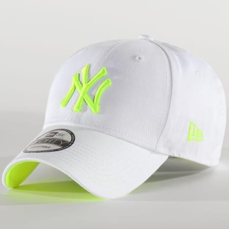New Era - Casquette Neon 940 New York Yankees 12375788 Blanc Jaune Fluo