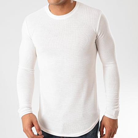 Frilivin - Tee Shirt Manches Longues Oversize 719611 Blanc Cassé