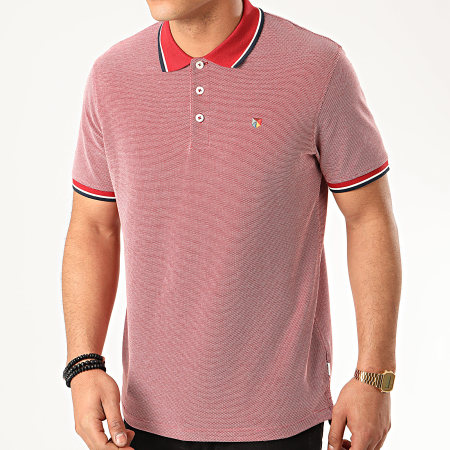 Jack And Jones - Polo Manches Courtes Bluwin Rouge Chiné