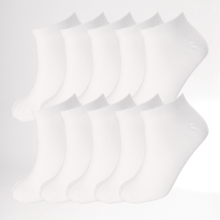Jack And Jones - Lot De 10 Paires De Chaussettes Invisibles Dongo Blanc