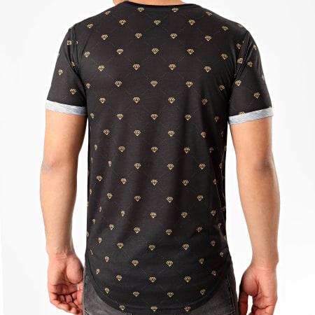 LBO - Tee Shirt Oversize Imprimé Avec Revers 1056 Noir