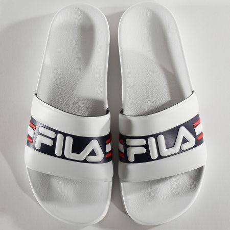 Fila - Claquettes Oceano Slipper 1010931 White Fila Navy