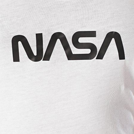 NASA - Débardeur Femme Worm Logo Blanc