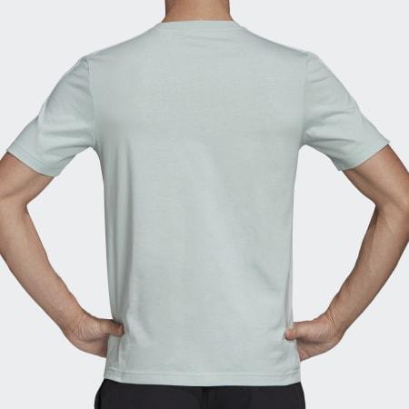adidas - Tee Shirt A Bandes 3 Stripes FM6233 Vert Pale