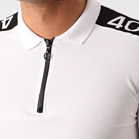 Classic Series - Polo Manches Courtes A Bandes 2196 Blanc