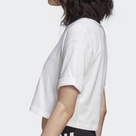 *adidas - Tee Shirt Crop Femme FM2556 Blanc