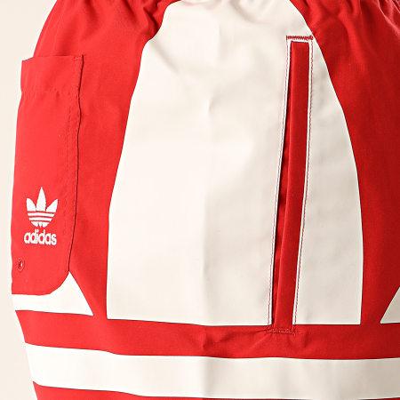 adidas - Short De Bain Big Trefoil FM9910 Rouge