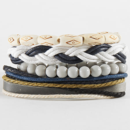 Deeluxe - Lot De 4 Bracelets Chalbi Gris Blanc