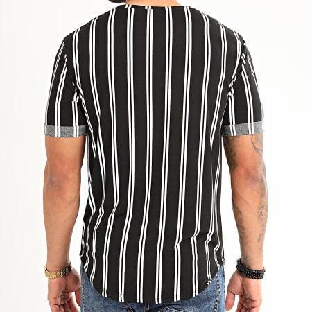 Frilivin - Tee Shirt Oversize A Rayures 13883 Noir