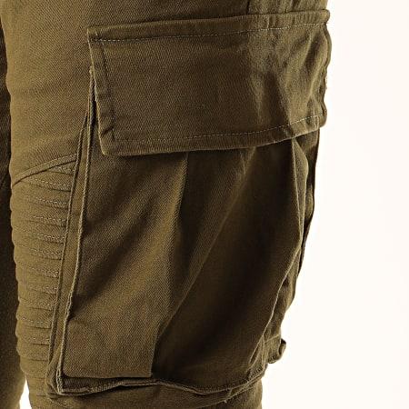 John H - Jogger Pant Jean P619 Vert Kaki
