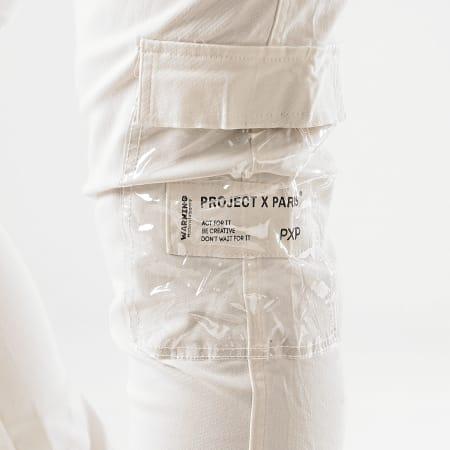Project X - Pantalon Cargo 2040075 Ecru