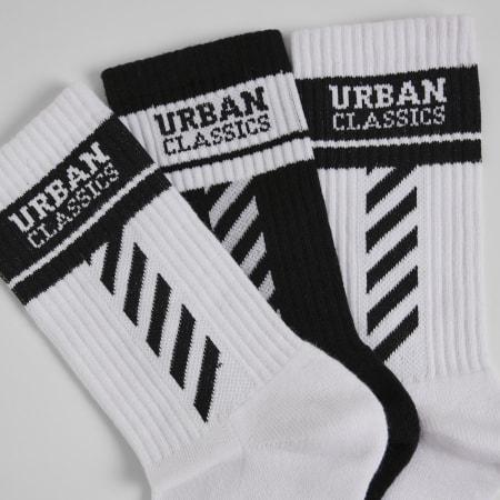 Urban Classics - Lot De 3 Paires De Chaussettes TB3397 Noir Blanc