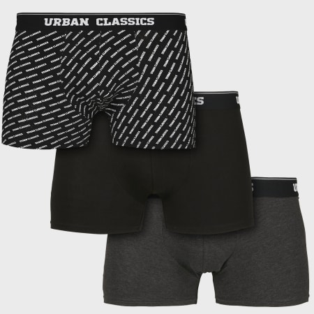 *Urban Classics - Lot De 3 Boxers TB3540 Noir Gris Anthracite