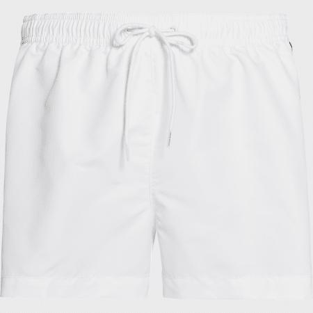 Calvin Klein - Short De Bain Medium Drawstring 0457 Blanc