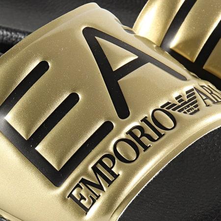 EA7 - Claquettes Slipper Visibility XCP001-XCC22 Doré
