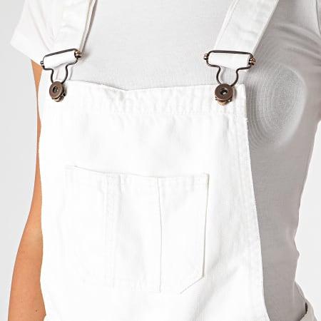 Urban Classics - Salopette Short Jean Femme TB1536 Blanc