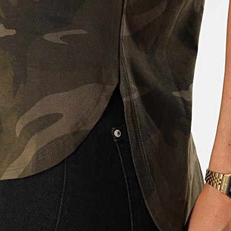 Urban Classics - Tee Shirt Femme TB1635 Vert Kaki Camouflage