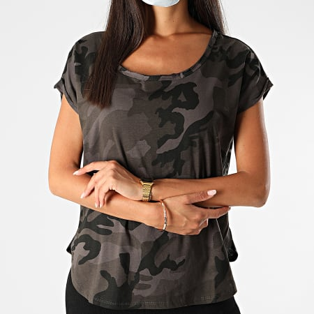 Urban Classics - Tee Shirt Femme TB1635 Gris Camouflage