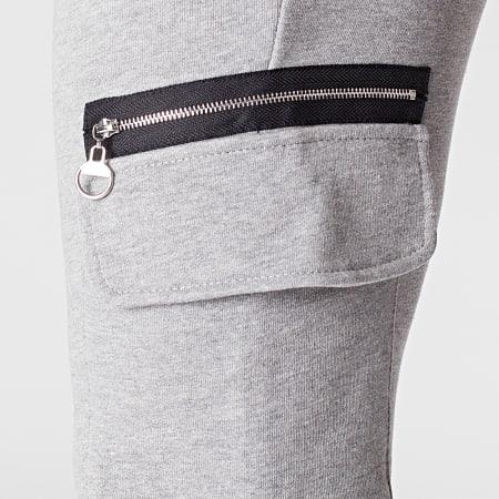 Aarhon - Pantalon Jogging 23872 Gris Chiné