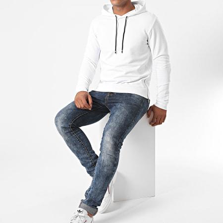 Aarhon - Sweat Capuche Oversize 13872 Blanc