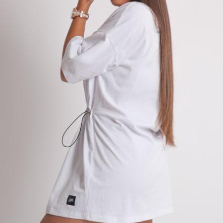 Sixth June - Robe Courte Femme W4121KDR Blanc Réfléchissant