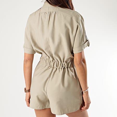 Sixth June - Combinaison Short Femme W4139VOA Beige