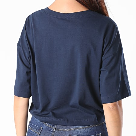 Champion - Tee Shirt Femme Boxy Crop 112655 Bleu Marine