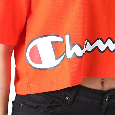 Champion - Tee Shirt Femme Boxy Crop 112655 Orange