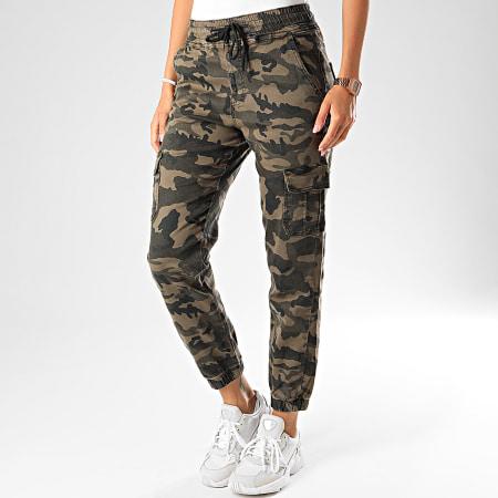 Girls Only - Jogger Pant Femme 7206 Camouflage Vert Kaki