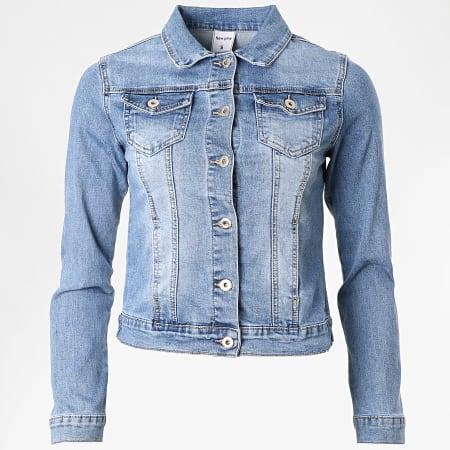 Girls Only - Veste Jean Crop Femme 7230 Bleu Denim