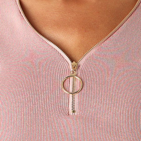 Girls Only - Top Crop Femme C-2135 Rose