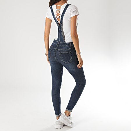 Girls Only - Salopette Jean Skinny Femme CK1889 Bleu Denim