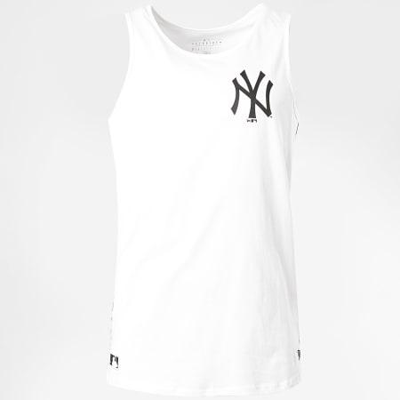 New Era - Débardeur A Bande Taping 12369822 New York Yankees Blanc