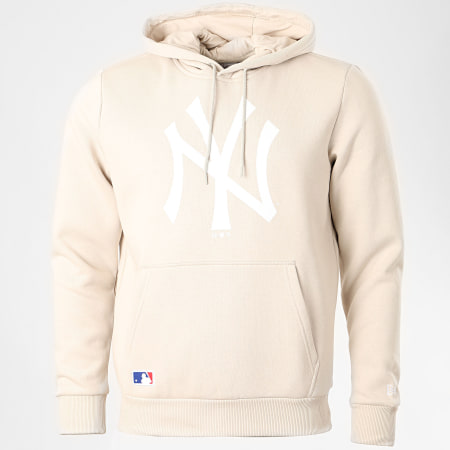 New Era - Sweat Capuche Team Logo 12369828 New York Yankees 12369828 Beige