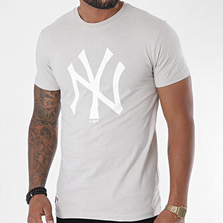 New Era - Tee Shirt Team Logo 12369829 New York Yankees Beige