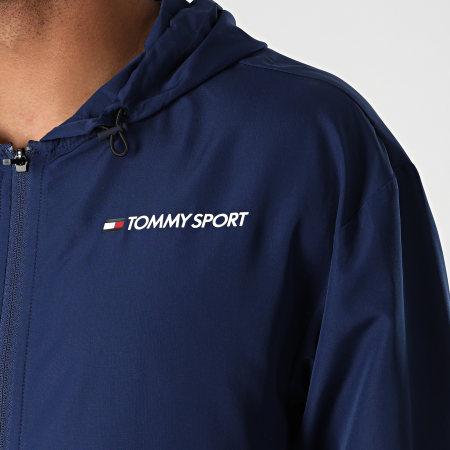 Tommy Sport - Coupe-Vent Chest Logo 0355 Bleu Marine