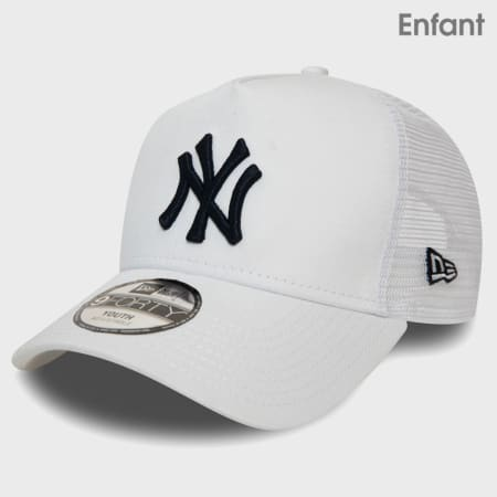 New Era - Casquette Trucker Enfant League Essential 12381039 New York Yankees Blanc