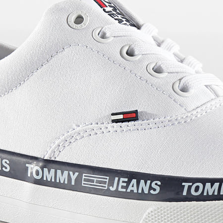Tommy Jeans - Baskets Classic Lace Up 0493 Blanc