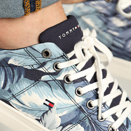 Tommy Hilfiger - Baskets Seasonal Print Sneaker 2856 Floral Bleu